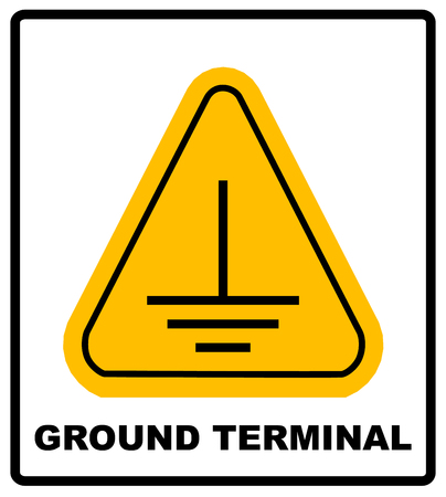 caution sign: Electrical grounding sign.
