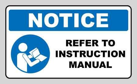 Refer to instruction manual booklet
