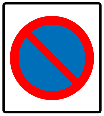 carriageway: no parking symbol, Vector illustration.