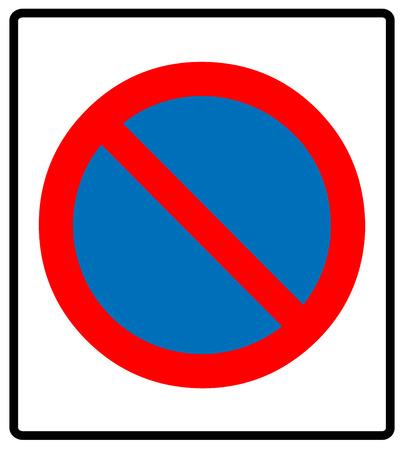no parking symbol, Vector illustration.