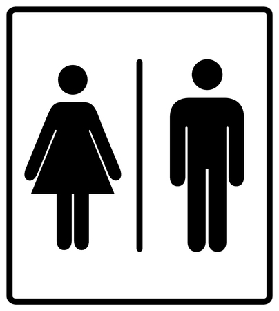 toilette: Vector mens and womens disabled restroom signage set - men, boy, women printable restroom, toilette signs Illustration
