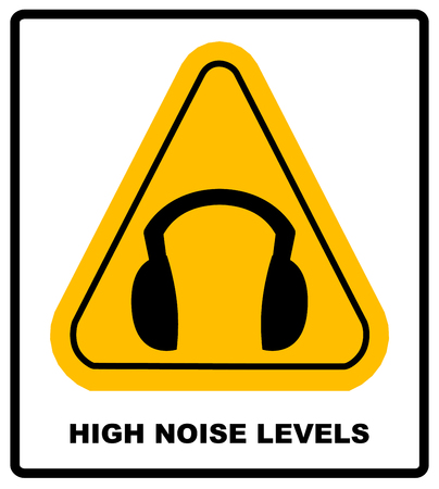ear muffs: wear earmuffs or ear plugs Illustration
