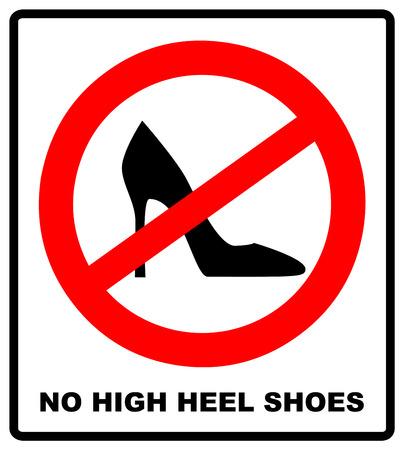 높은 뒤꿈치 신발 흰색 배경에 서명하지. 벡터 일러스트 레이 션