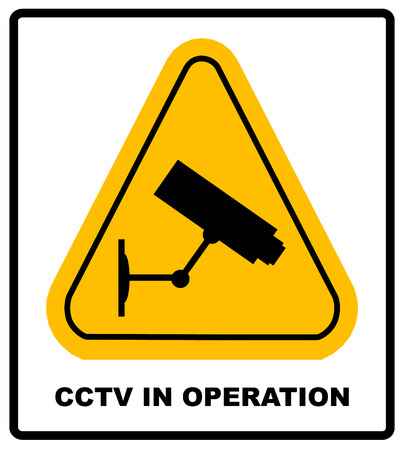 CCTV in Operation sign - Vector format Illustration