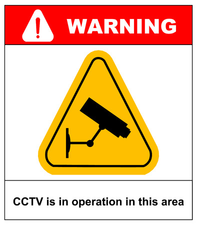 operation: CCTV in Operation sign - Vector format Illustration