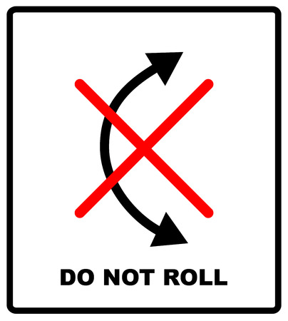 Do Not Roll Vector Packaging Symbol On Vector Cardboard Background
