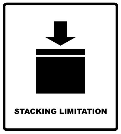 Stacking Limitation by Mass vector packaging symbol on vector cardboard background. Handling mark on craft paper background. Can be used on a box or packaging  イラスト・ベクター素材