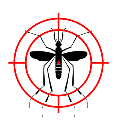 Warning, Prohibited sign with mosquito with. Stop Zika Virus. Stop Malaria. Stop Dengue. Illustration