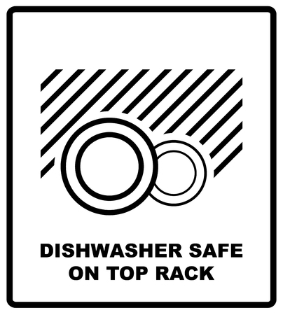 Microwave Oven Safe Item Symbol Simple Black Lines Plate Drawing