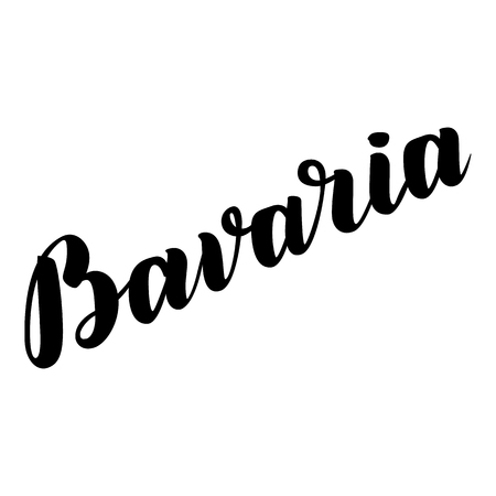 bier festival: Bavaria hand drawn lettering. Vector lettering illustration isolated on white. Template for Traditional German Oktoberfest bier festival Illustration