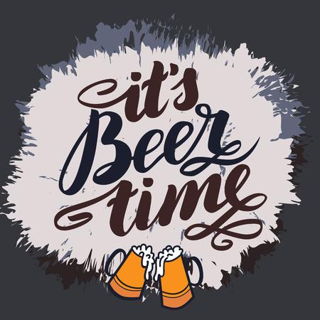 its beer time. Traditional German Oktoberfest bier festival.