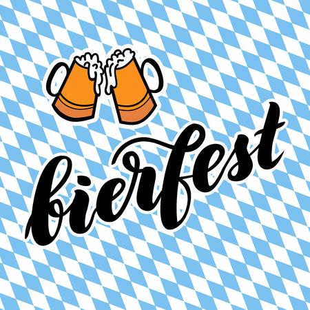 beer stein: Traditional German Oktoberfest bier festival with text bierfest.