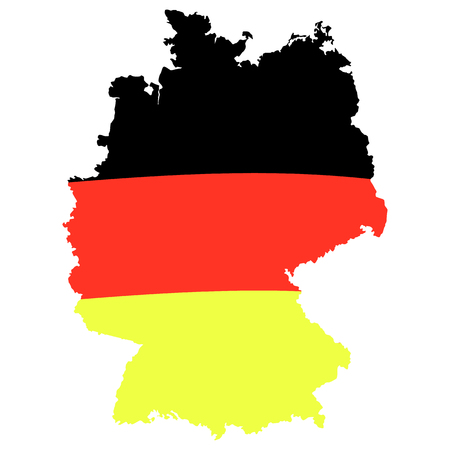 German flag on map. Vector illustration isolated on white. Template for Traditional German beer festival