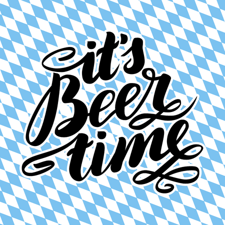 It's beer time. Traditional German Oktoberfest bier festival. Stock Photo
