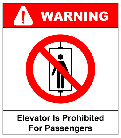 Do not use elevator sign. Do not use lift, prohibition sign with up and down arrows, isolated  illustration. 写真素材