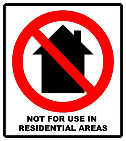 Do not use inside home icon - vector illustration.
