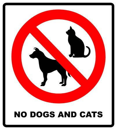 no pets allowed sign. round red no pets vector isolated illustration Ilustração