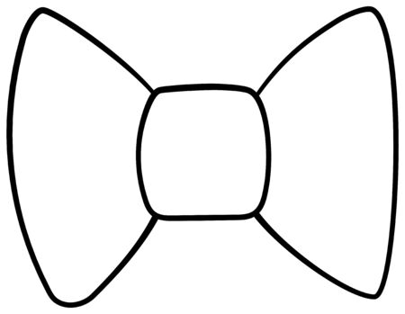 Lined bow icon on a white background