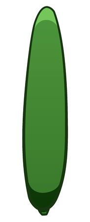 Green cartoon style cucumber isolated illustration. White background, vector. Ilustrace