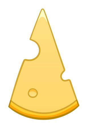 Cartoon style cheese isolated illustration. White background, vector.