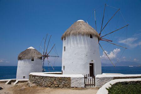 The windmills of Mykonos photo