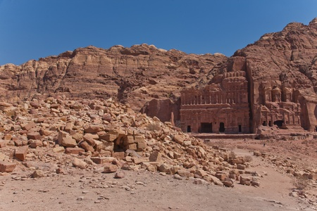 The ancient city of Petra, Jordan  photo