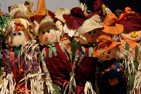 autmn: Autumn harvest scarecrow dolls for Halloween