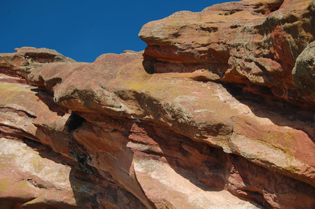 geological formation: Close up of Red Rocks geological formation
