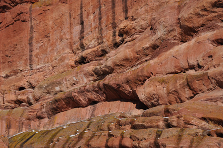 red rocks: Close up view of rocks and eroson at Red Rocks Stock Photo