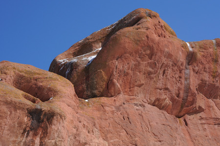 geological feature: lose up of Red Rocks geological feature Stock Photo