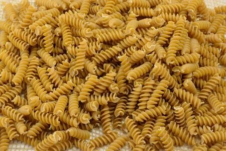 rotini: Whole wheat rotini pasta Stock Photo