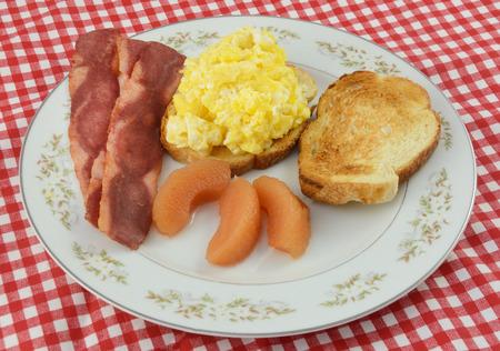 Breakfast meal on plate