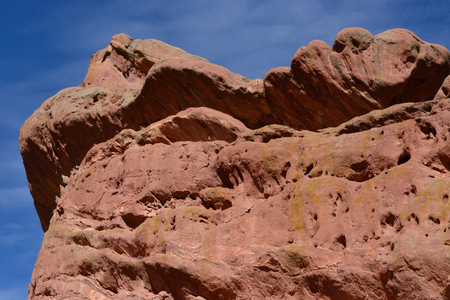 Close up of erosion on sandstone at Red Rocks Park