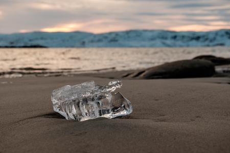 Ice on the beach Archivio Fotografico