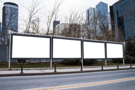 Billboard advertising mockup and template