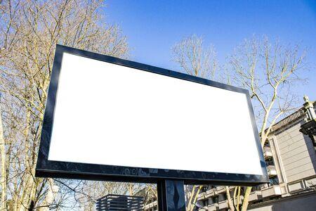 Maqueta y plantilla de publicidad de cartelera