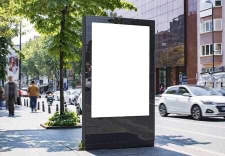 Maquette et modèle de publicité de panneau d'affichage