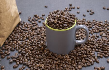 coffee beans coffee cup