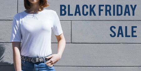 Black Friday sale shopping banner. Mockup of special day.