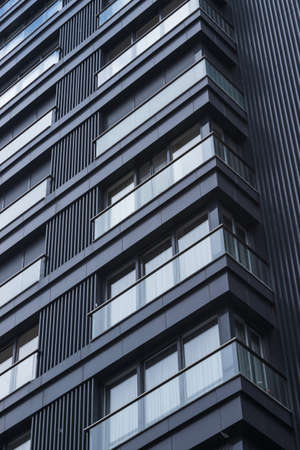 modern architecture, reflected windows. Background for real estate agents. modern office structures Stock fotó