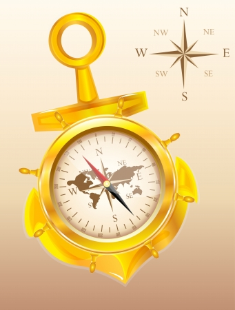 compass gold Vector