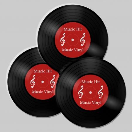vinyl black disk Vector