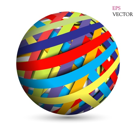 hollow: Abstract hollow sphere, color line background