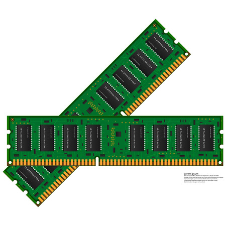 random access memory: computer memory Illustration