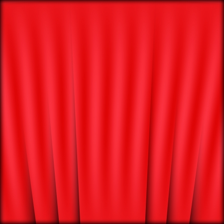 curtain red Vector