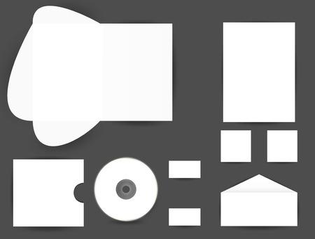 stationery set: stationery set, eps10 Illustration