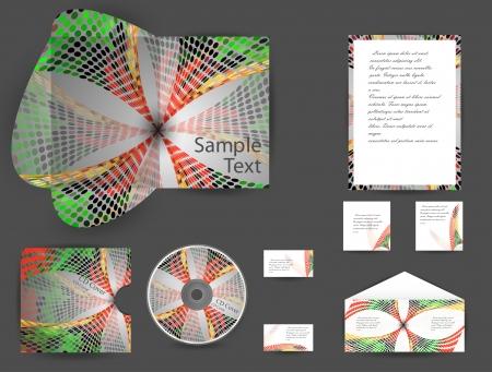 stationery set, eps10 Vector