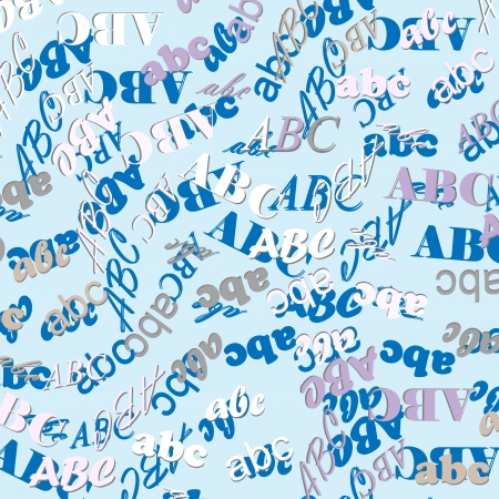 letters of the alphabet Stock Vector - 22228160