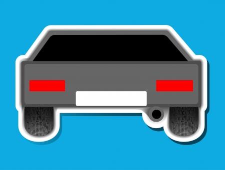 sticker, car, avto Vector