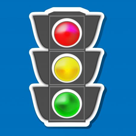 traffic light, sticker Vector